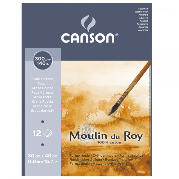 Альбом-склейка для акварели Canson Moulin du Roy 12л 300г/м 24х32 см