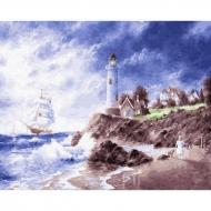Картина по номерам BrushMe 40*50см Маяк на острове (GX22601)