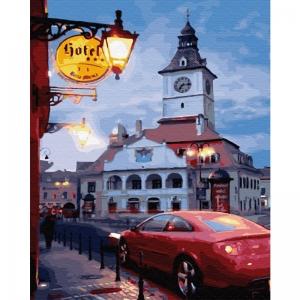 Картина по номерам BrushMe 40*50см Вечер провинциального городка (GX30888)