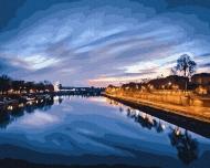 Картина по номерам BrushMe 40*50см Вид на ночную реку (GX23841)