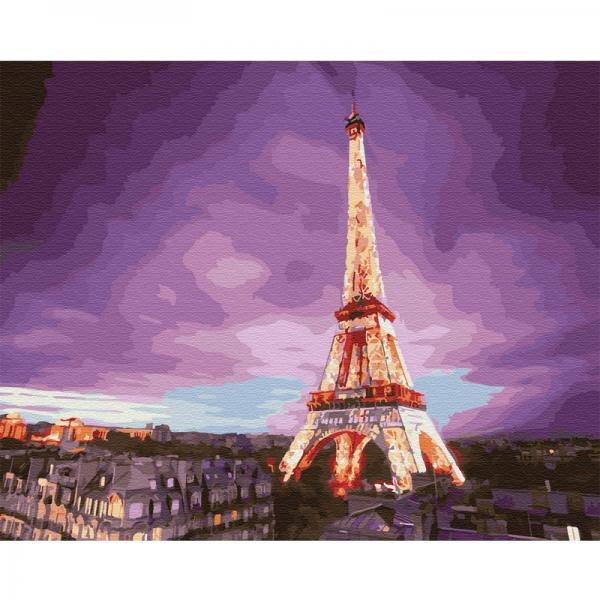 Картина по номерам BrushMe 40*50см Эйфелева башня на закате (GX28710)