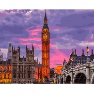 Картина по номерам BrushMe 40*50см Лондон на закате (GX29764)