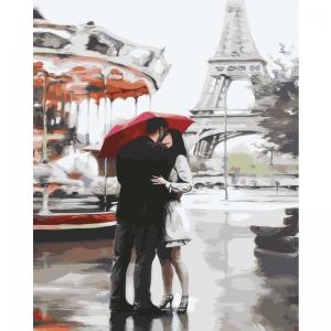 Картина по номерам BrushMe 40*50см Под зонтом счастья (GX3015)