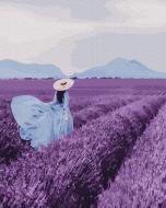 Картина по номерам BrushMe 40*50см Прогулка по лавандовому поле (GX25441)