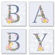 Набор для росписи по номерам Полиптих 18*18 BABY прованс 4 шт. (СН107 )