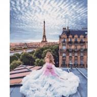 Картина по номерам BrushMe 40*50см Она навпротив Эйфелевой башни (GX25433)