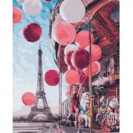 Картина по номерам BrushMe 40*50см Карусель в центре Парижа (GX24914)
