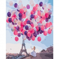 Картина по номерам BrushMe 40*50см Париж в шарах (GX24910)