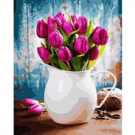Картина по номерам BrushMe 40*50см Тюльпаны в чашке (GX31612)