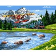Картина по номерам BrushMe 40*50см Путешествие в горы (GX33234)