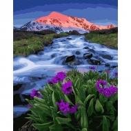 Картина по номерам BrushMe 40*50см Весна у подножья гор (GX33321)