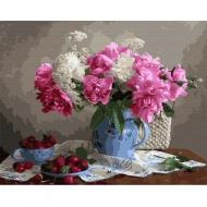Картина по номерам BrushMe 40*50см Пионы с ягодами (GX33762)