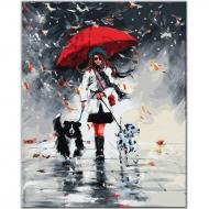Картина по номерам BrushMe 40*50см Дама с собачками (GX33908)