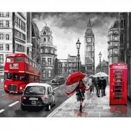 Картина по номерам BrushMe 40*50см Дощовий Лондон (GX34828)