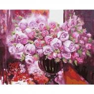 Картина по номерам BrushMe 40*50см Фиолетовое сияние в вазе (GX4641)