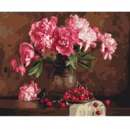 Картина по номерам BrushMe 40*50см Пионы и вишни (GX4645)