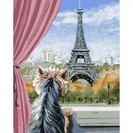Картина по номерам BrushMe 40*50см Париж из окна (GX5611)