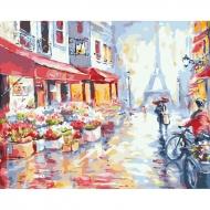 Картина по номерам BrushMe 40*50см Цветочная улица в Париже (GX7959)