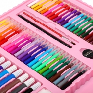 Детский набор для рисования на 208 предметов (Розовый)