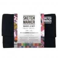Набор маркеров SKETCHMARKER Базовые цвета Basic 4 Set 24 цвета