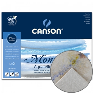 Блок бумаги для акварели Canson Montval (12) 300 г/м2, 36x48 см