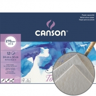 Canson блок бумаги для акварели на спирали Montval Torchon Bloc (12) 270 г/м2 24х32 см