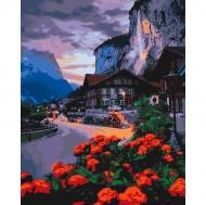 Картина по номерам Идейка 40х50см Лето в Швейцарии (КНО2262)