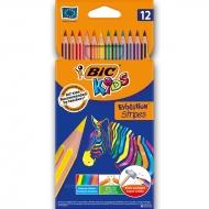 "Карандаши цветные ""BIC"" 12 цвета Evolution Stripes"