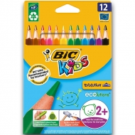 Карандаши цветные BIC Kids Evolution Triangle 12 цветов