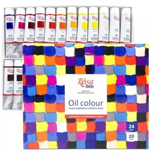 Набор масляных красок 24*20мл ROSA Studio