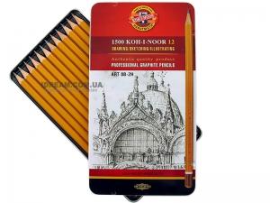 Набор графитных карандашей 1500 Art 12шт, 8B-2H