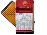 Набор графитных карандашей 1500 Graphic 12шт, 5B-5H