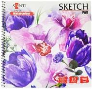 Альбом для акварели SANTI Floristics 21х21 см 10 лист. 742622
