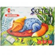 Альбом для акварели SANTI Wonderland  А4 200г/м2 10 лист. 742603