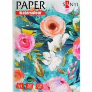 Бумага акварельная SANTI Floristics А4, 200г/м2 18 лист. 742618