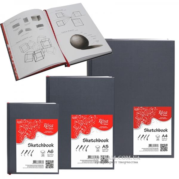 Блокноты скетчбуки для рисунка 100г/м, 96 л А4, А5, А6