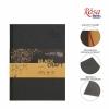 Блокнот A5 ЧЕРНАЯ и КРАФТ бумага (14,8*21см), 80г/м ROSA,  96л.