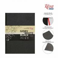 Блокнот A5 слоновая кость,черная и белая бумага (14,8*21см), 80г/м ROSA, 96л.