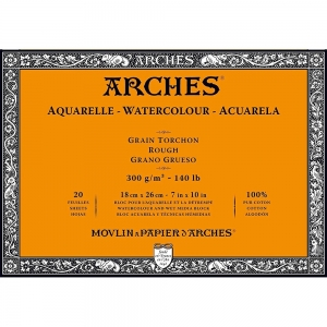 Блок бумаги крупнозернистый Arches Rough Grain 185 гр/м2 18х26 см
