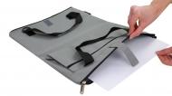 Сумка раскладная для бумаги А4 и А3, асфальт