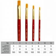 Кисти нейлоновые (синтетические) плоские ROSA разных размеров