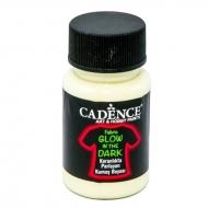 Cadence светонакапливающая акриловая краска для ткани Fabric Glow In The Dark 50 мл Натуральная