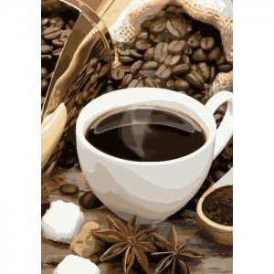 Картина по номерам Идейка 35х50см Кофейное настроение (КНО5546)