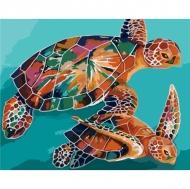 Картина по номерам Идейка 40х50см Черепахи (КНО2455)