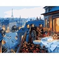 Картина по номерам Идейка 40х50см Вид на Париж (КНО1107)