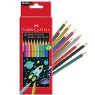 Цветные карандаши металлик 10 цветов Metallic Faber-Castell