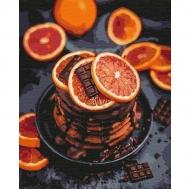 Картина по номерам Идейка 40х50см Апельсиново-шоколадная наслаждение (КНО5593)