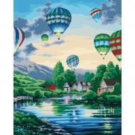 """Картина по номерам Идейка 40х50см """"Воздушные шары 2"""""""