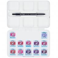 Набор акварельных красок VAN GOGH Pocket box PINKS & VIOLETS 12 кювет + кисточка пластик (20808642)