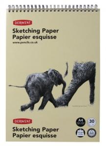 Альбом на спирали, Портрет, форм. А4 (29,7×21), 165г/м2, 30л, текстурная бумага, Derwent